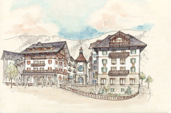 Taos, NM front facade drawing